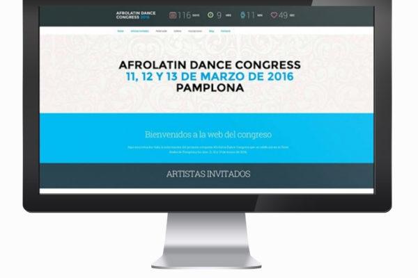 Diseño web Afrolatin Dance Congress 2016